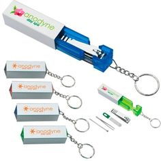 Manicure Pillar Logo Keychain