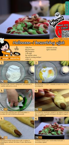 The spooky Halloween witches' fingers recipe that will surely make for an amazing and memorable party food! You can easily find the recipe by scanning the QR code in the top right corner! All You Need Is, Halloween Buffet, Halloween Witches, Easter Cake Pops, Fruit Gums, Party Buffet, Snacks, Recipe Cards, Diy Food