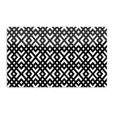 Kess InHouse Trebam 'Dijagonala' Black Geometric Artistic Magnet