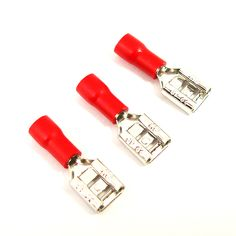 Good Quality 50pcs 4.8mm Female  Insulated Wire Connector Electrical Crimp Terminal Red Insulated Connectors