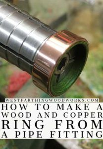 The complete guide to making a wood and metal ring from a copper pipe fitting. This is a step by step tutorial, full of pictures, instructions, and tips that will help you make a beautiful wooden ring. Woodworking Jobs, Cool Woodworking Projects, Wood Projects, Woodworking Workshop, Woodworking Beginner, Woodworking Magazine, Popular Woodworking, Woodworking Furniture, Fun Projects