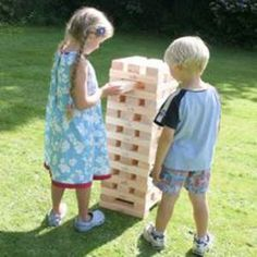 Giant Jenga: outside game olympics for summer or spring