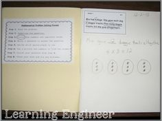 Problem Solving Journals Rock - Math journals can be a great way to monitor a student's progress. Art Lessons Elementary, Elementary Math, Math Lessons, Math Worksheets, Math Activities, Third Grade Math, Second Grade, Fourth Grade, Grade 2