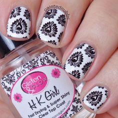 Painted Nubbs: Twinkie Nail Art Challenge January Week 2: Black & White