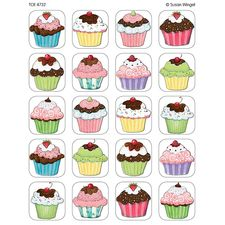 icu ~ Cupcakes Stickers from Susan Winget - Thema cupcakes, Thema taarten en School verjaardag ~ Discrimination visuelle: retrouver les paires Cupcake Drawing, Cupcake Art, Cupcake Illustration, Memory Games For Kids, Cake Games For Kids, Teacher Created Resources, Food Illustrations, Kids Cards, Planner Stickers