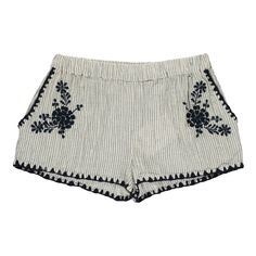 Louis Louise Ines Embroidered Stripe Shorts Navy blue