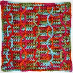 Crochet Afghans Design Moogly CAL 2018 Block 17 is so unique - and fun! This square is easier than it looks, and it's free courtesy of Marly Bird! Crochet Motif Patterns, Crochet Blocks, Afghan Patterns, Square Patterns, Knitting Patterns, Moogly Crochet, Easy Crochet, Free Crochet, Free Knitting