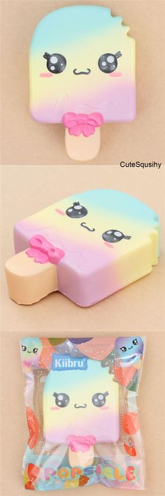 Kawaii Kiibru rainbow popsicle squishy!