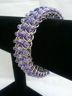 Alexandrite Purple Glass Caterpillar Glass and by galiam34jewelry, $40.00