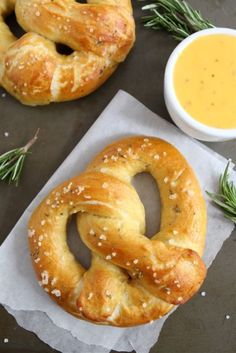Rosemary Sea Salt Pretzels on twopeasandtheirpod.com Love these homemade pretzels! So easy to make at home!