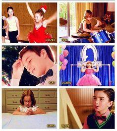 Rachel, Finn, Kurt, Lauren, Emma, and Blaine as kids