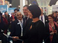 Fleur Pellerin visiting the French Pavillon at the Mobile World Congress #France #FrenchTech @Fleur Pellerin @Belenjir