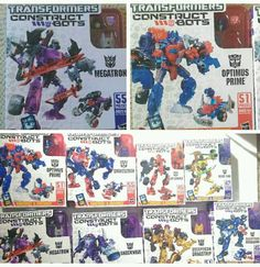 lot of 8 Hasbro construct bots optimus prime megatron shockwave and more    (a2) #Hasbro