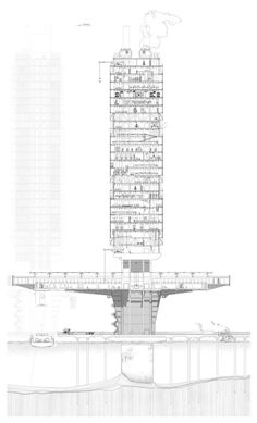 3f2e6465d2b1a5b6ccba3f68a7515418.jpg (1000×1651) #architectureportfolio