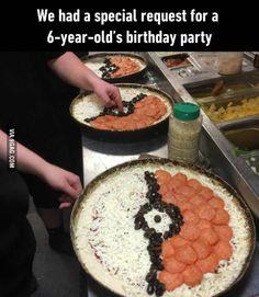 Pokeball pizza for Pokemon fans: gotta eat 'em all.