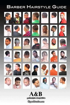 Barber Guide : barbershop hairstyle guide - Google Search More