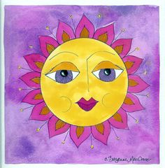 Sunny Disposition Too ~ Print from Original Painting by Italian Girl in Georgia, via Etsy