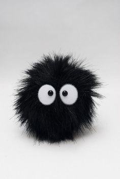 soot sprite! from hayao miyazaki's spirited away... Un conejo de polvo... que lindo ❤