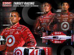 TARGET RACING - THE TARGET CHIP GANASSI RACING TEAM. CASEY MEARS FOR NASCAR SCOTT DIXON FOR IZOD IndyCar Series DARREN MANNING FOR IZOD IndyCar Series AGENCY: FAME CD: Wayne Talley Indy Car Racing, Indy Cars, Racing Team, Casey Mears, Terry Labonte, Kyle Larson, Celebrity Portraits, Champs, Nascar