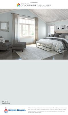 I found this color with ColorSnap® Visualizer for iPhone by Sherwin-Williams: Rarified Air (SW 6525).