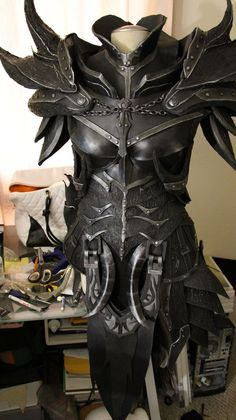 Cosplay Skyrim Daedric Armor WIP by lsomething -