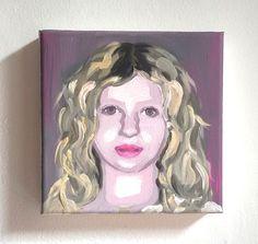 my little portrait* Acryl auf Leinwand 20x20x4cm Individuelle Seitengestaltung Porträtmalerei vom Foto reduzierte Darstellung