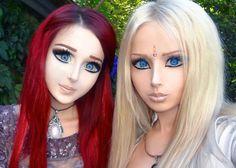 Valeria Lukyanova, Anastasiya Shpaghin inquietanti bambole viventi che ricorrono a chirurgia e digiuni per assomigliare a Barbie e che rappresentano un prototipo di donna artificiale e pericoloso. A loro si