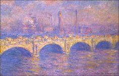 """Waterloo Bridge, London,"" Claude Monet."