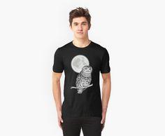 #owl #moon #night #dark #art #illustration #design #clothing #tshirt #urban #modern
