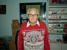 This is the King of Beers.Don Hodges, 87 years old and still working 3 days in the week at ...