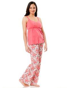 Motherhood Maternity: Sleeveless Button Detail Nursing Pajama Set $29.99