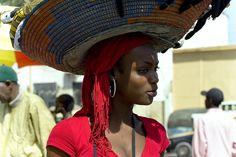 Africa   Portrait of a street vendor in Dakar, Sénégal