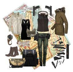 Apocalypse by mzilla on Polyvore featuring polyvore, fashion, style, J.Crew, BKE core, prAna, TALLY WEiJL, Desigual, Charlotte Russe, maurices, Dr. Martens, Smith & Wesson, Gerber, women's clothing, women's fashion, women, female, woman, misses and juniors