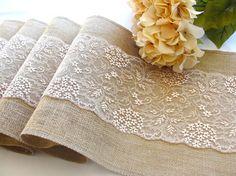 Camino de mesa boda con una decoración Pastel Blush encaje