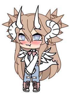 ^w^ Cute Animal Drawings Kawaii, Cute Disney Drawings, Kawaii Drawings, Cute Drawings, Anime Drawing Styles, Anime Girl Drawings, Cute Anime Character, Character Drawing, Tomboy Drawing
