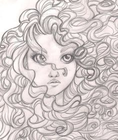 Brave - Merida: disney, princess, sketch