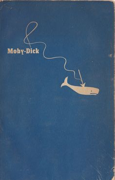 Vintage book cover by the title of Moby Dick.                                                                                                                                                                                 More