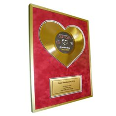 """Heart of Gold 10"""" Disc with personal message 