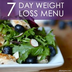This 7-Day Weight Loss Menu is exactly the type of foods that I ate during my weight loss of 30 pounds. I changed my diet over six years ago and have successfully maintained my ideal weight by adopting a clean eating lifestyle. #weightloss #cleaneating #menu