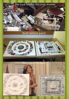 Saw this on the Nate Berkus show a few weeks ago. Super cute idea. Turn your junk drawer into wall art! Wouldn't this be cute with photography related items? An old film roll, point and shoot camera, ect. Click the picture to view the original 'how to' instruction blog.