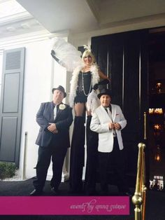 No Gatsby party would be complete without a flapper on stilts and some wise guy gangsters