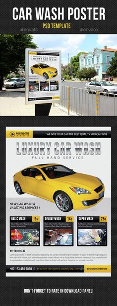 Car Wash A5 Promotional Flyer. Http://Premadevideos.Com/A5-Flyer