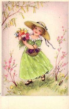 Hannes Petersen - Cute Children - Vintage Postcard