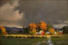 Early Autumn Storm by Romona Youngquist Oil ~ 22 x 32