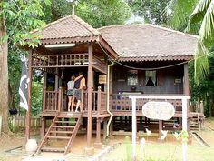 Asia: Traditional Pahang Malay house.The  house  is  extremely  well  designed  to suit the warm and humid Malaysian climate and for the multifunctional  use of space. Its design is also flexible as it  caters to the widely  different needs of  the  users and it has an addition system which allows the house to be extended to meet the growing needs of each family. Thai House, Asian House, Filipino House, Bahay Kubo, Bamboo House, Village Houses, Good House, Tropical Houses, Modern Country