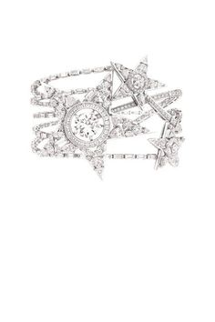 Chanel The 1932 Collection.  The Etoile Filante bracelet in 18k white gold
