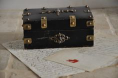 French Antique Box Trinket BoxVictorian by FrenchArtAntiques
