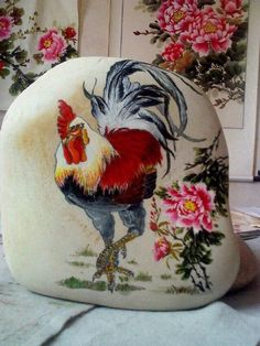 An ink painting on a pebble --- Modern Chinese stone art