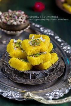 Nariyal ki Barfi / Indian Coconut Fudge is a perfect recipe to make for Janmashtami or Gokulashtami.