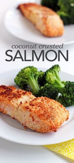This coconut crusted salmon is a great healthy dinner option for your entire family.